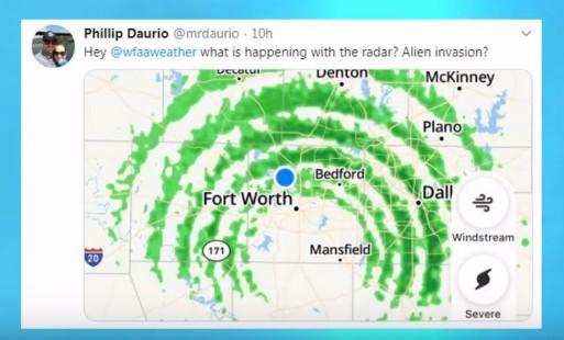 """Meteorological Radars record three """"Huge Anomalies"""" in the Texas skies 95"""