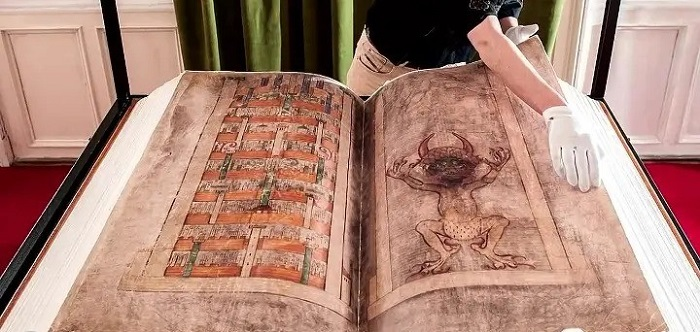Who and why he removed 10 pages from the Devil's Bible? 93