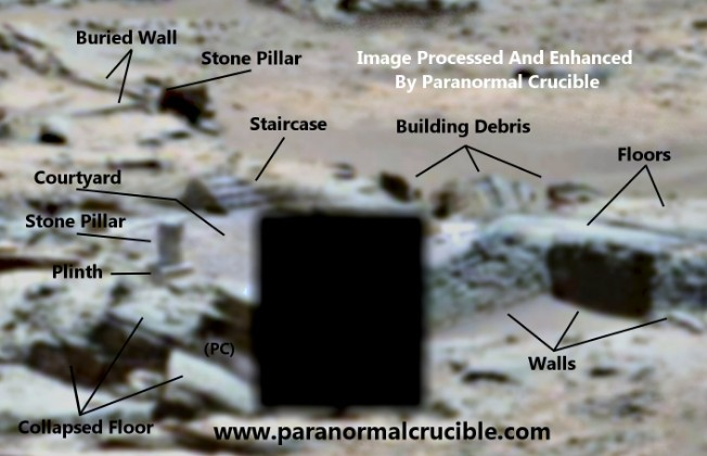 """Rover Curiosity photographs of """"ancient structures"""" on Mars partly hidden by NASA 13"""