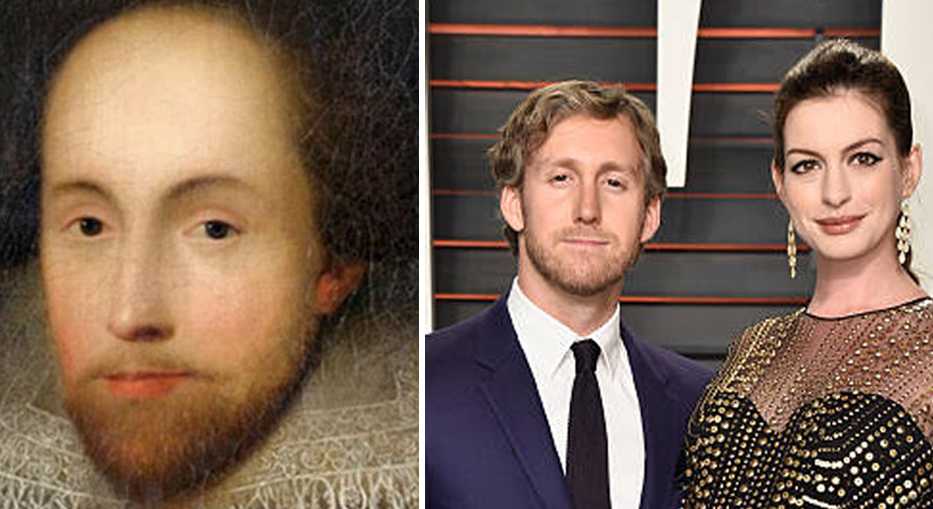 They say Shakespeare reincarnated to be Anne Hathaway's husband 4