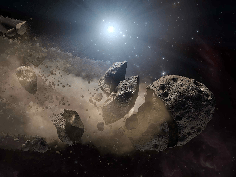 Witnessing the destruction of an asteroid 86