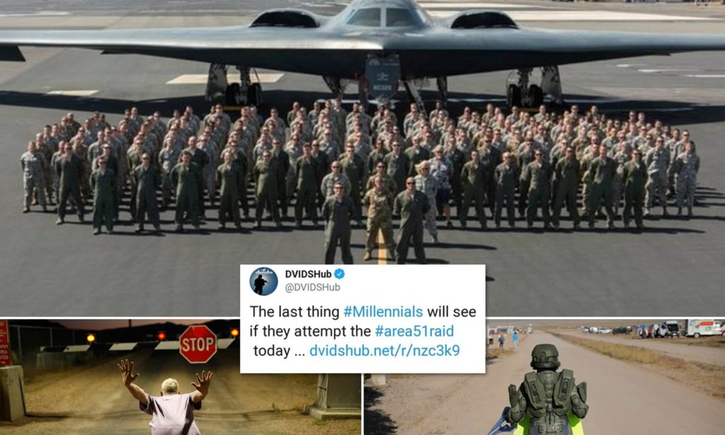 Area 51 raid: US military apologises for tweet about stealth-bombing 'millennials' 17