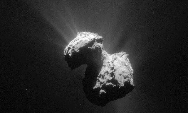 """COMET 67P, the """"Transmission of Extraterrestrial Sounds"""" comes from an unknown base visible on the Comet 101"""