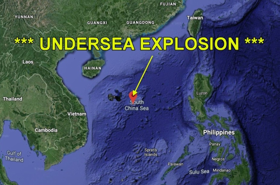 Global alert for a submarine NUCLEAR EXPLOSION occurred in the South China Sea 95