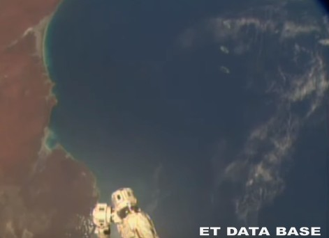 UFO fleet seen over the Indian Ocean from the International Space Station 91