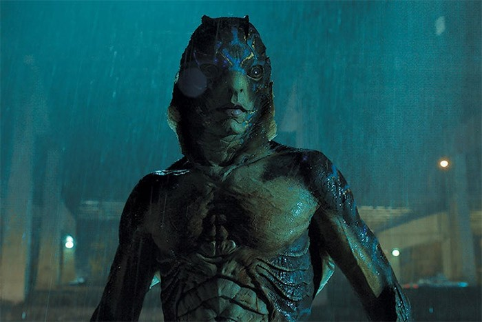 Amphibious man in the movie The Shape of Water