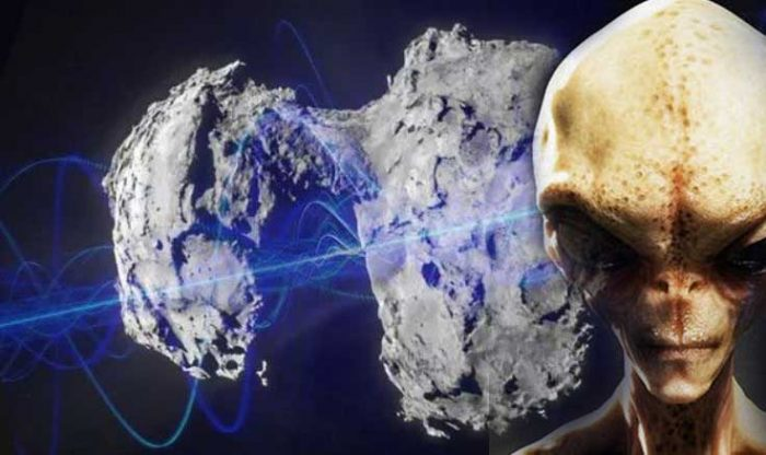 """COMET 67P, the """"Transmission of Extraterrestrial Sounds"""" comes from an unknown base visible on the Comet 100"""