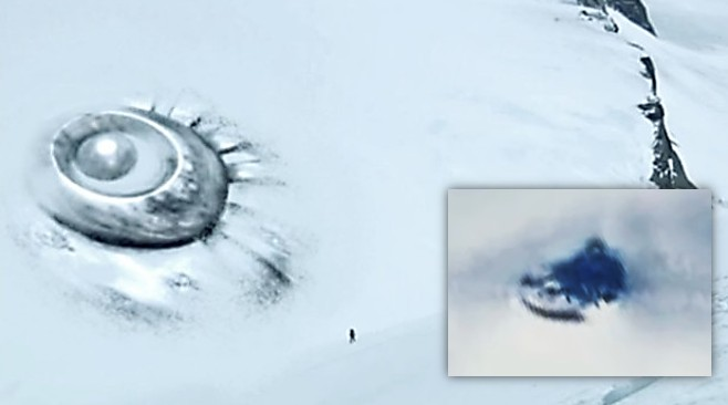 "Photographs of Antarctica show an object similar to a ""Flying Saucer"" 94"