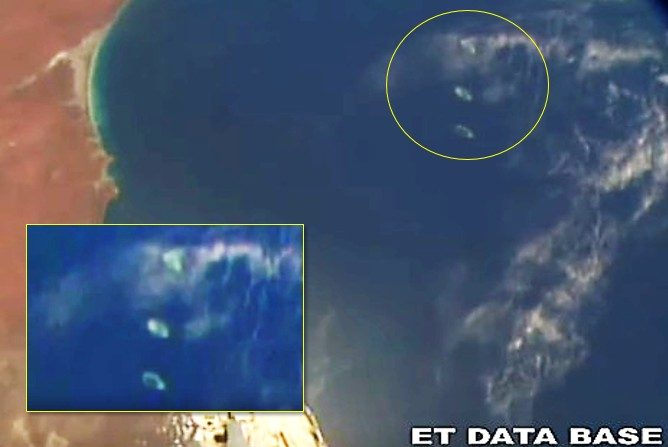 UFO fleet seen over the Indian Ocean from the International Space Station 90