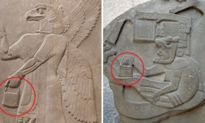 Mysterious 'handbags of the gods' spotted in ancient sculptures around the world 86