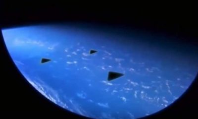 Astronaut on board the International Space Station records 3 triangular UFOs 91