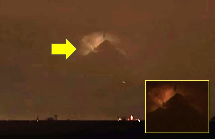 "Mysterious and huge object in the shape of a ""pyramid"" appears in the sky above Philadelphia 8"