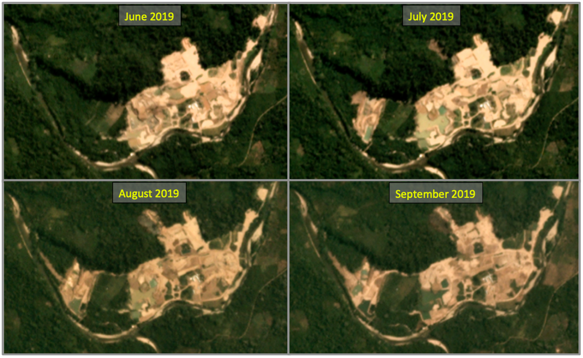 Gold mine operating without license destroys primary forest in protected area 106
