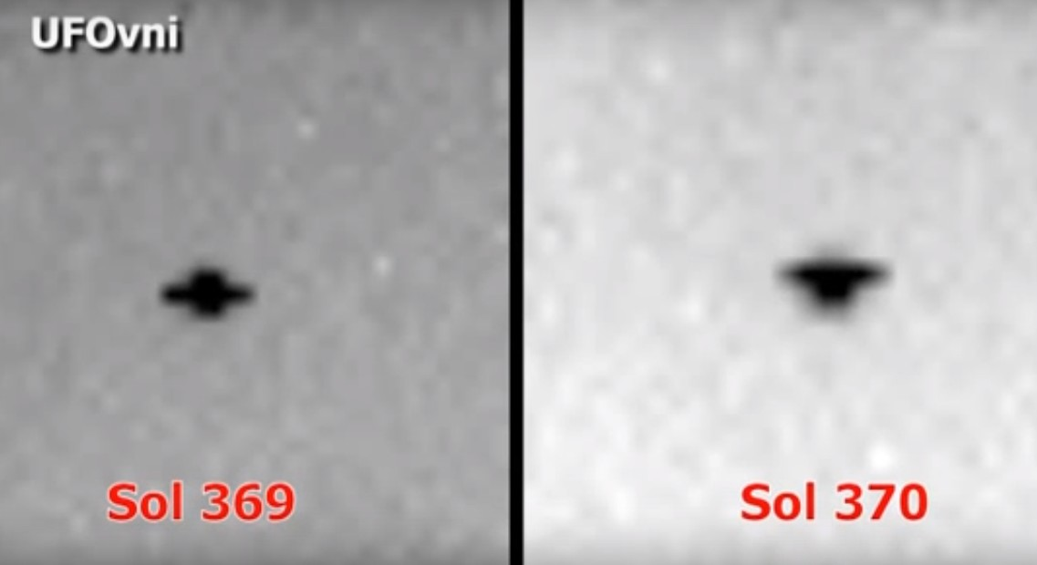 Mars, Rover Curiosity photographs UFOs in the skies of the Red Planet! 98