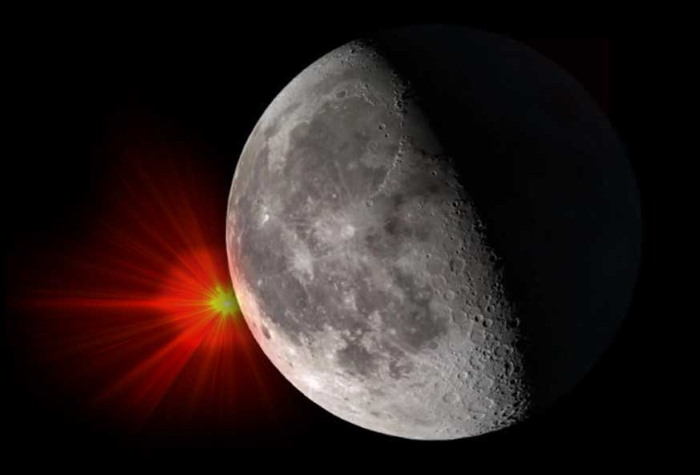 Amateur Astronomer records a mysterious explosion on the Moon 9