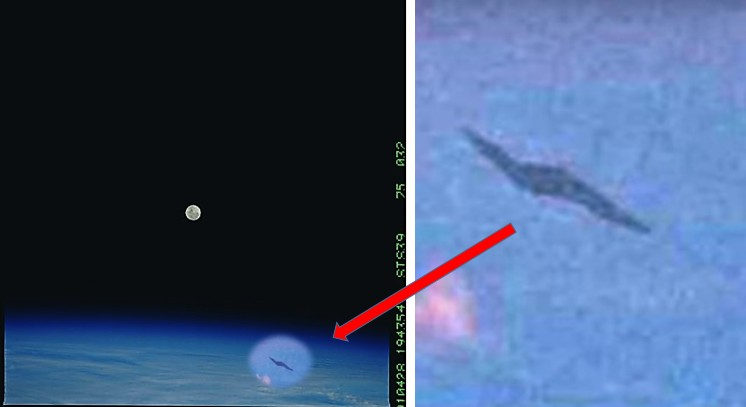 'Discovery' Space Shuttle photographed an Alien Spaceship 5
