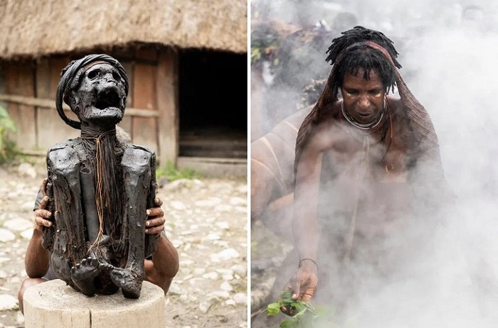 The Dani cannibal tribe and their smoky dead ancestors 23