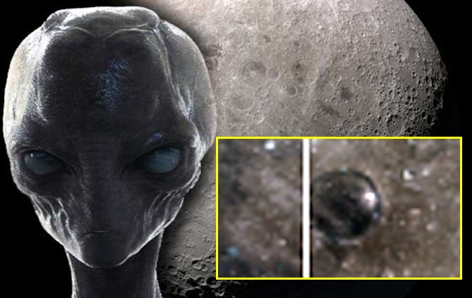 """The Clementine space probe photographed """"Alien Structures"""" and a """"Dome"""" on the Moon 1"""