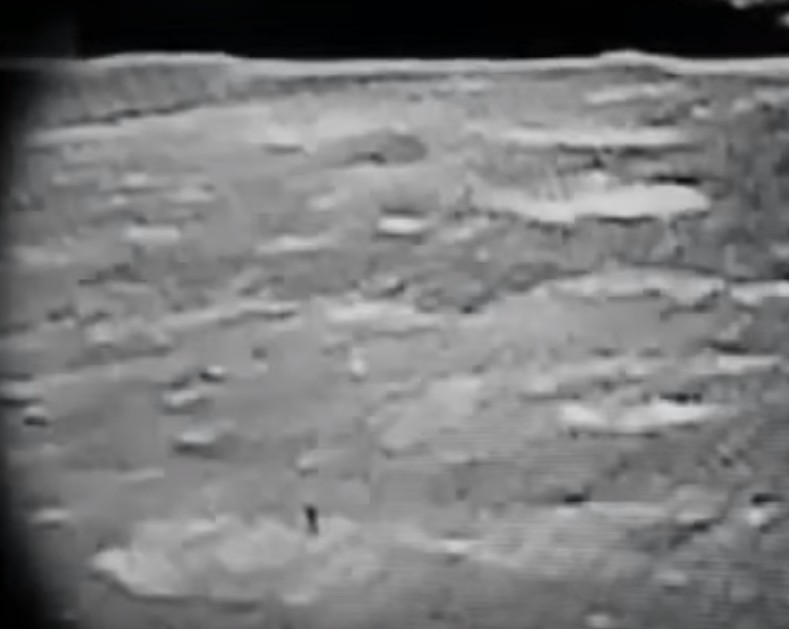 """A spectacular video shows a """"cylindrical object that expels a puff of smoke"""" on the moon 18"""