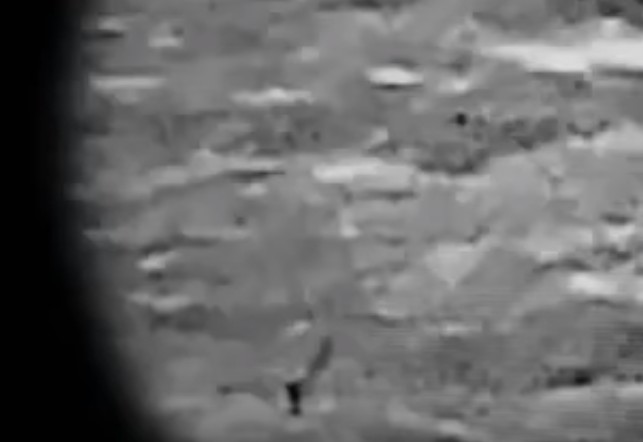 """A spectacular video shows a """"cylindrical object that expels a puff of smoke"""" on the moon 105"""