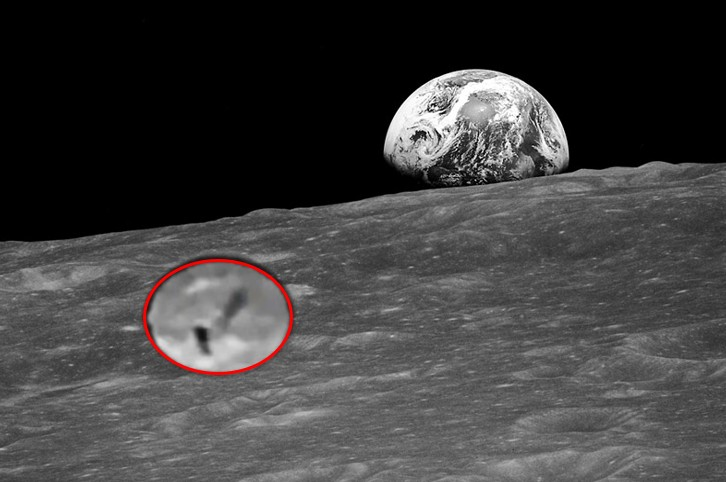 """A spectacular video shows a """"cylindrical object that expels a puff of smoke"""" on the moon 100"""