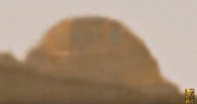 A UFO is photographed in the Mars Gale Crater by the Rover Curiosity 18