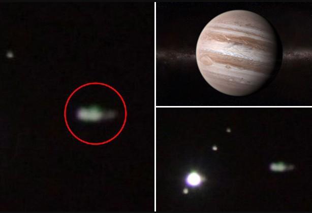 "Sky watcher observes ""Alien Spaceships"" passing in front of planet Jupiter 10"