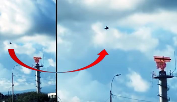 UFO flies over Santamaría International Airport in Costa Rica 10