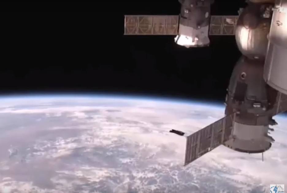 Huge UFO appears near the International Space Station 100