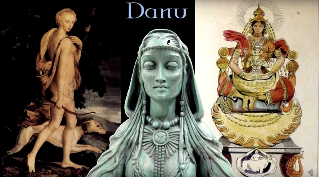 Who were the brilliant creatures known as Tuatha De Danann who once ruled Ireland? 89