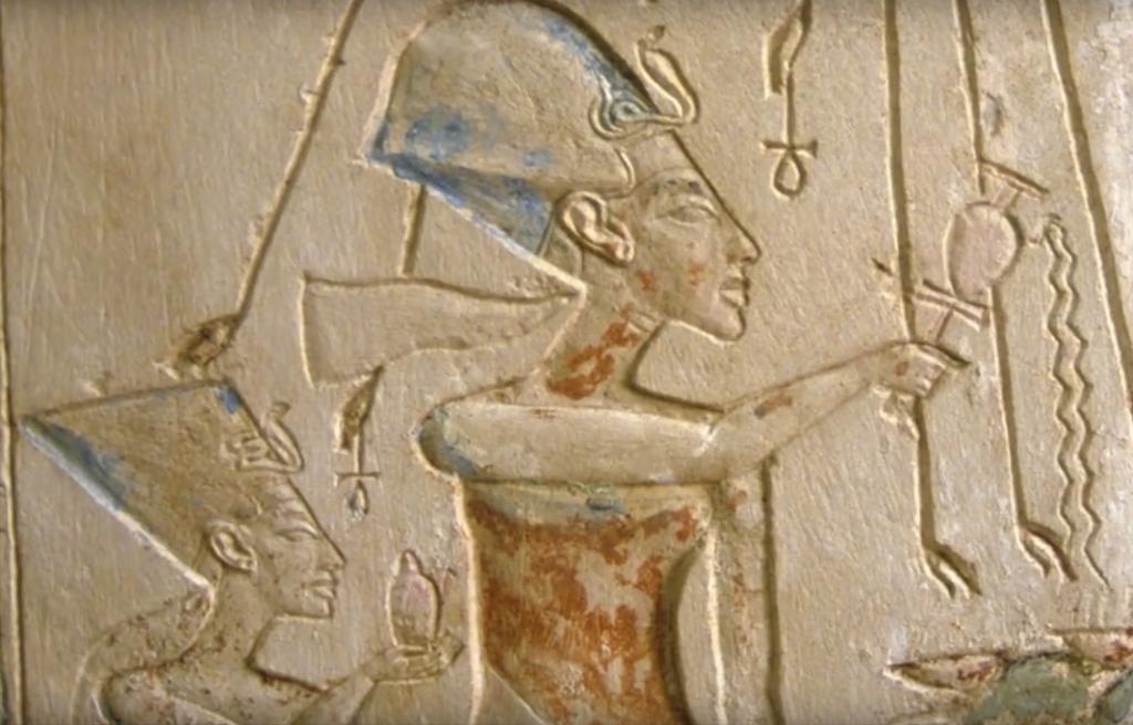 What was Athos, Pharaoh Akhenaten's solar disk? 98