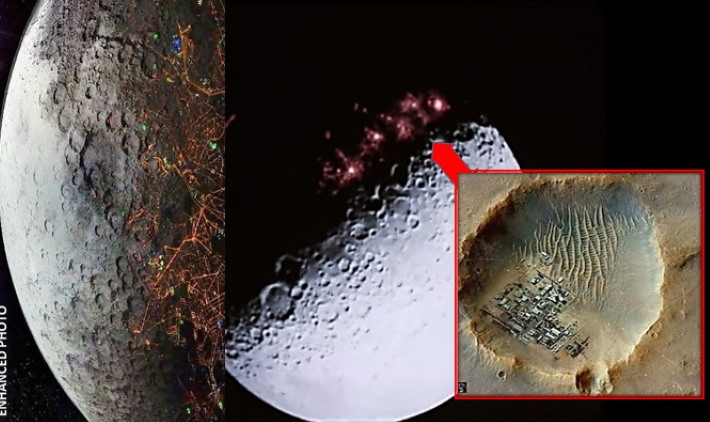 "A huge Hologram is hiding ""Bases, fortresses and Alien Cities"" on the Moon 96"