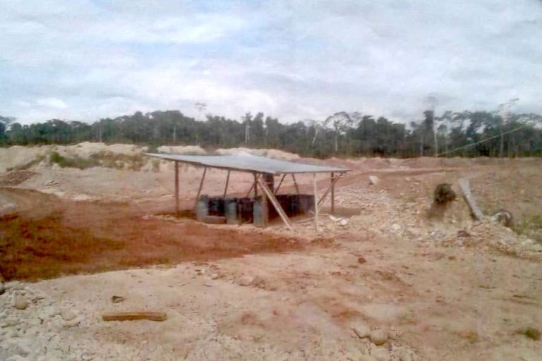 Gold mine operating without license destroys primary forest in protected area 112