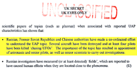 Russian and Chinese pilots were killed chasing UFOs 4