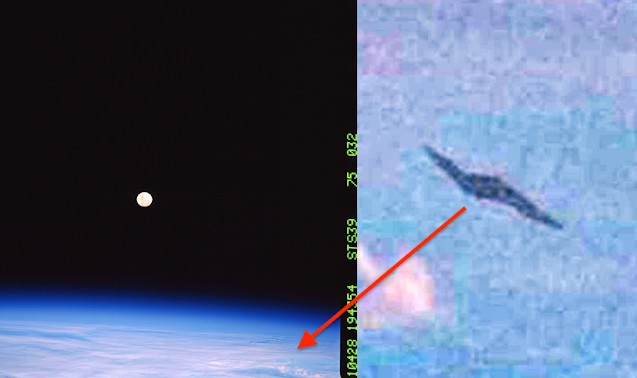 'Discovery' Space Shuttle photographed an Alien Spaceship 6