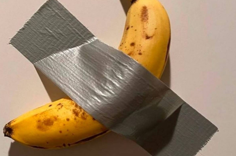 Banana duct-taped to a wall sells for $120,000 1