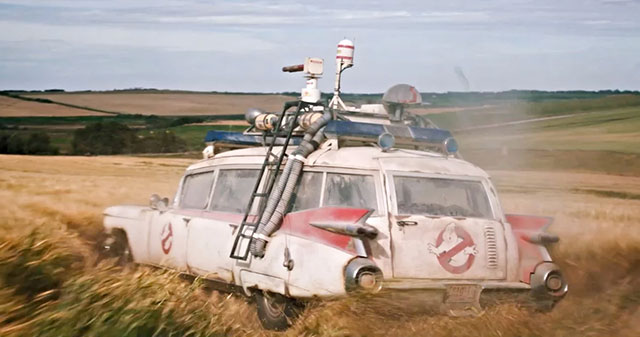 Ecto-1 in the Ghostbusters: Afterlife trailer