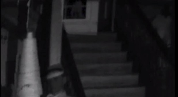 TV Show Ghost Nation captured apparition of legs walking across stairs 4
