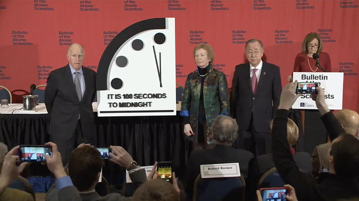 Doomsday clock is reset to closer to the end: 100 seconds 90