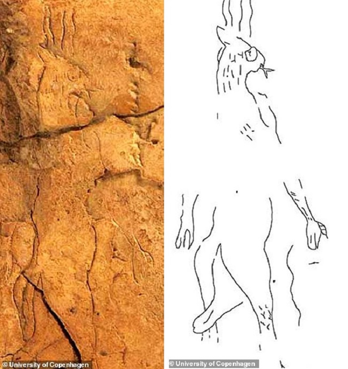 A depicted demon was discovered on a medical plaque made before 2700 91