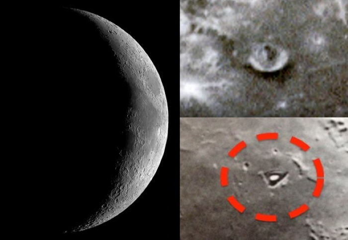 """The LRO space probe photographs a """"mysterious structure"""" on the moon 94"""