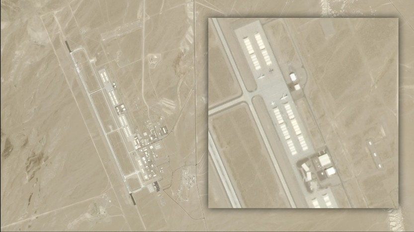 "AREA 51, ""mysterious objects"" suddenly appear from the hangars of the Tonopah Test Range airport 100"