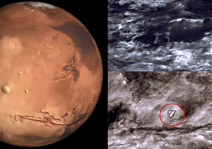 "Discovery of an ""extraterrestrial base"" on Mars in the shape of 'B' 107"