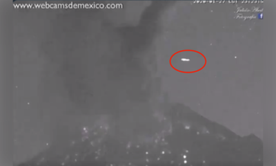 UFO filmed in skies over Mexico's Popocatepetl volcano seconds after eruption 97