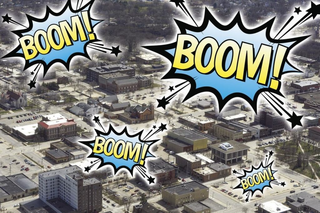 What's Up With All These Booms in Mason City, Iowa? 86