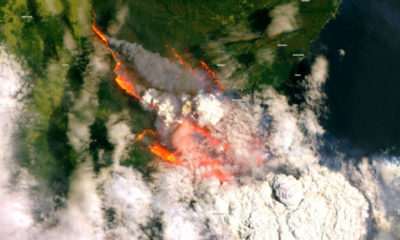 Japanese satellite captures stunning images that show the extent of forest fires in Australia 89