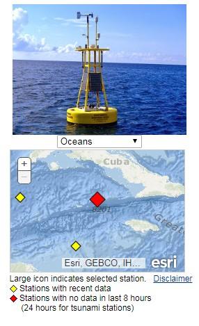 earthquake Jamaica data station