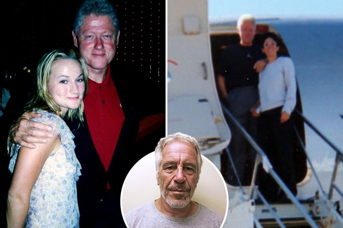 Bill Clinton photographed aboard Epstein's 'Lolita Express' 8