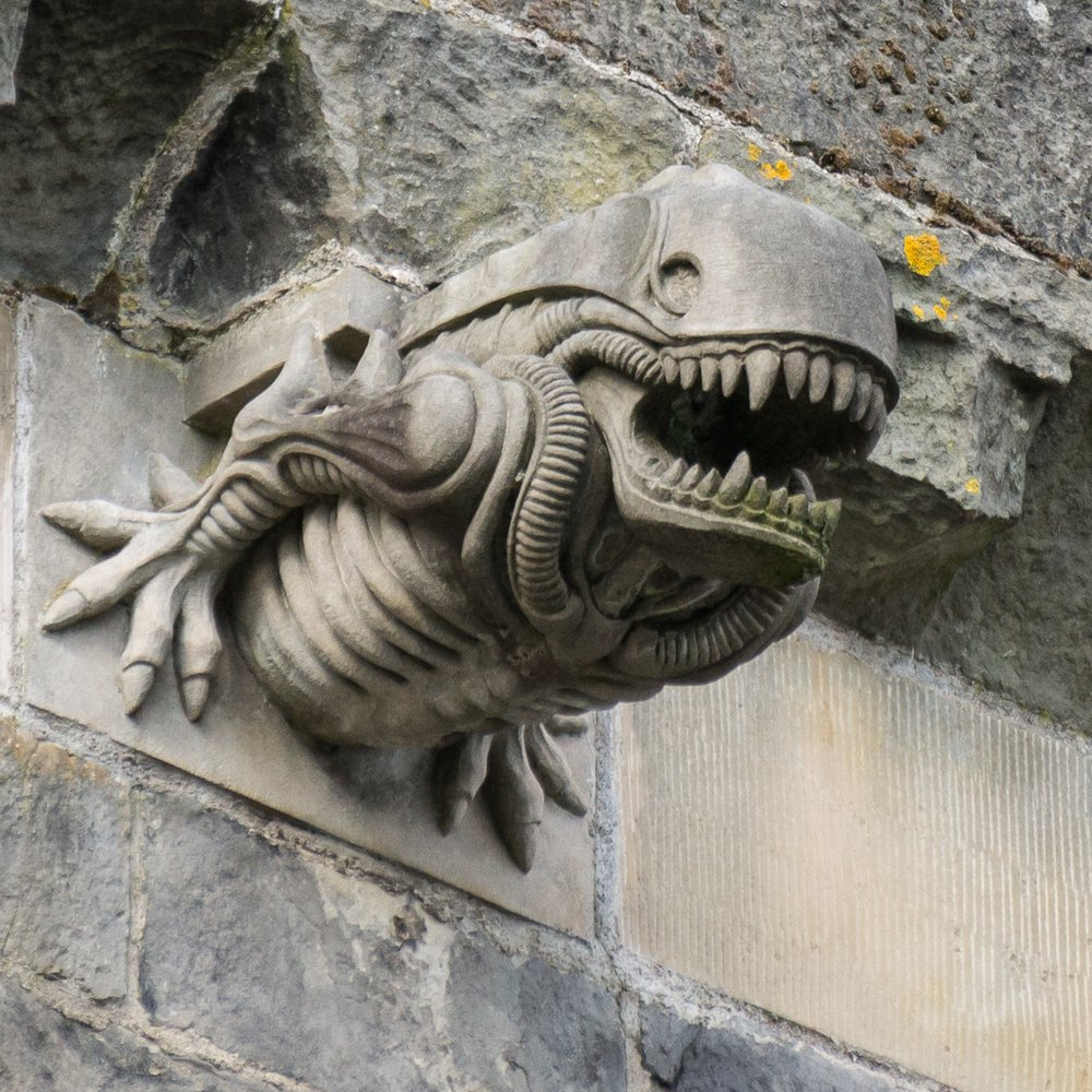 The gargoyle on the wall of the 12th century abbey is similar to Alien. How did it happen? 87