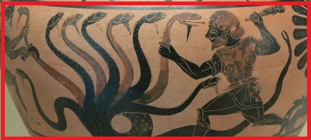 The great mystery of the the seven-headed hydra figure of the deity worshiped throughout the ancient world 89